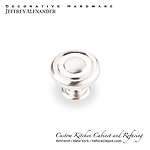 "Bremen - 1-1/4""  Diameter Button Cabinet Knob - Satin Nickel"