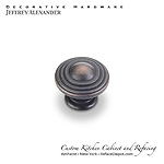 "Bremen - 1-1/4""  Diameter Ring Cabinet Knob - Dark Brushed Antique Copper"