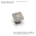 "Rochester -  1-1/8"" Zinc Die Cast Arts & Crafts Cabinet Knob - Bright Nickel Burnished with a Dull Lacquer"
