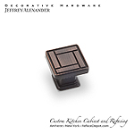 "Rochester -  1-1/8"" Zinc Die Cast Arts & Crafts Cabinet Knob - Dark Brushed Antique Copper"
