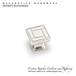 "Rochester - 1-1/8"" Zinc Die Cast Arts & Crafts Cabinet Knob - Satin Nickel"