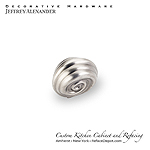 "Lille - 1-1/4"" Zinc Die Cast Palm Leaf Cabinet Knob -  Bright Nickel Burnished with a Dull Lacque"